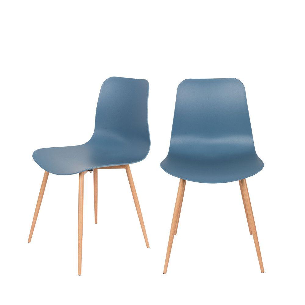 Leon 2 Chaises En Resine Table A Manger En Bois Chaise Design Chaise