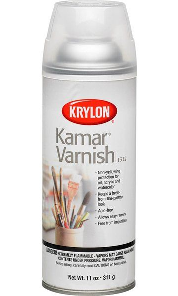 Krylon 11 Ounce Kamar Varnish Aerosol Spray Acrylic Spray Paint Acrylic Spray Clear Acrylic
