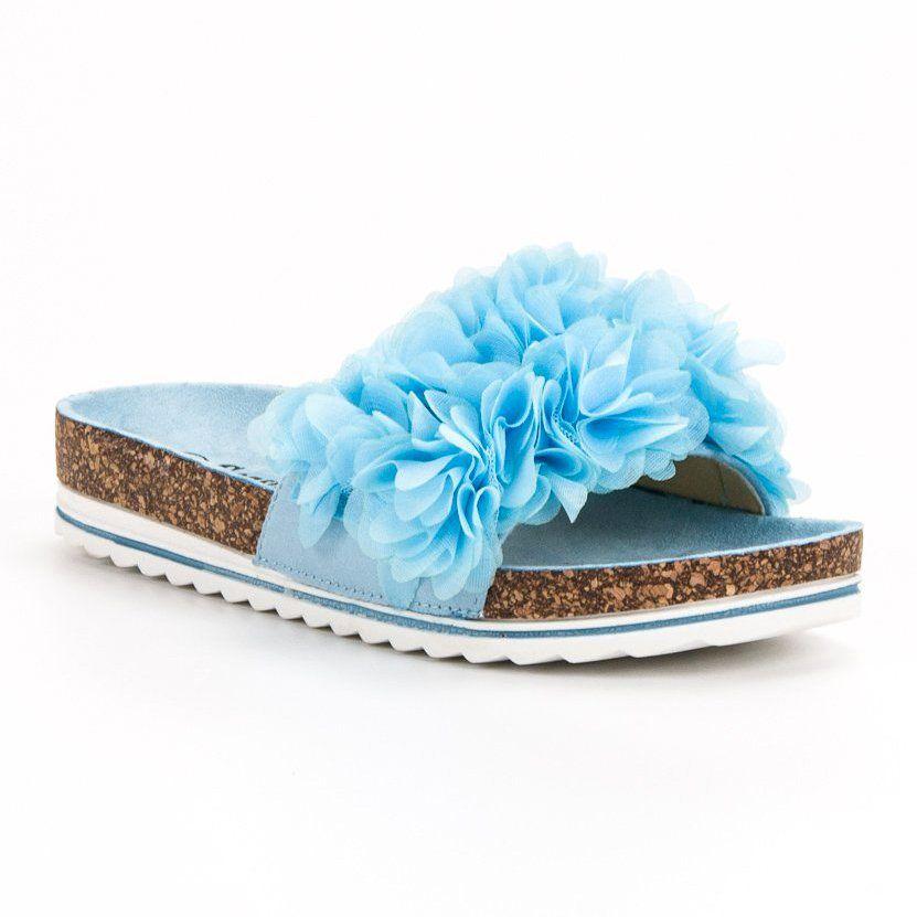 Seastar Modne Blekitne Klapki Niebieskie Blue Slippers Womens Flip Flops Womens Slippers