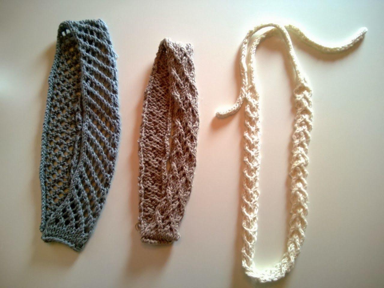 Katri Knits: Neulotut jämälanka hiuspannat *Knitted leftover yarn headbands*
