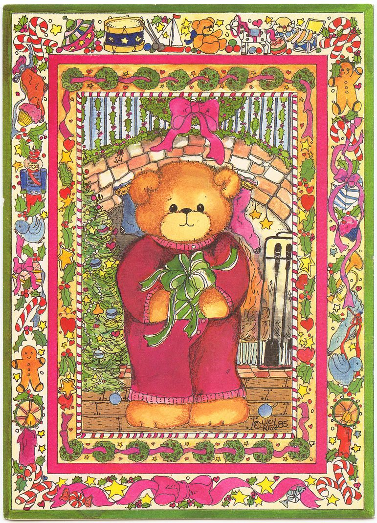 A teddy bear christmas paper doll greeting card christmas teddy christmas postcards 2009 this is a lucy and co card with different types of kristyandbryce Images