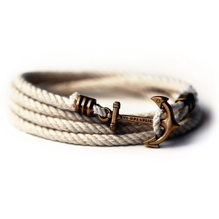 Nautical anchor bracelets discover more ideas about for Rope designs and more