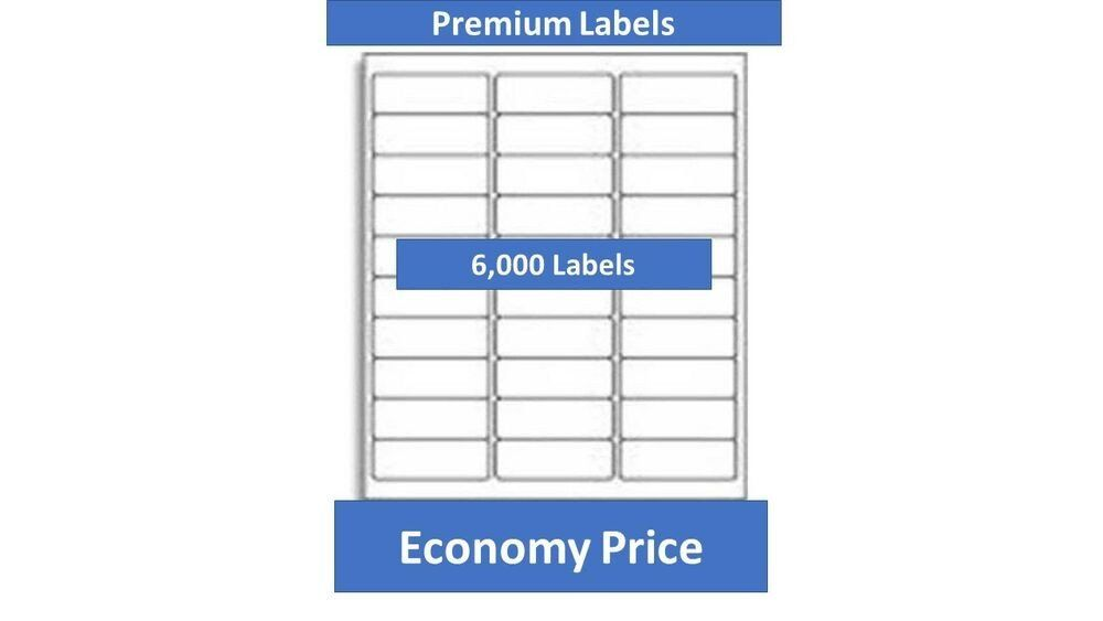 Avery Label Template 5960 6000 Laser Ink Jet Labels 30up Address Patible With Avery Label Templates Label Templates Printable Label Templates