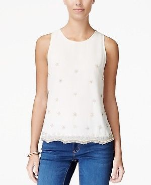 5c90359ca8ccf9 American Rag Women's Embellished Sleeveless Top NWD Size S #fashion  #clothing #shoes #