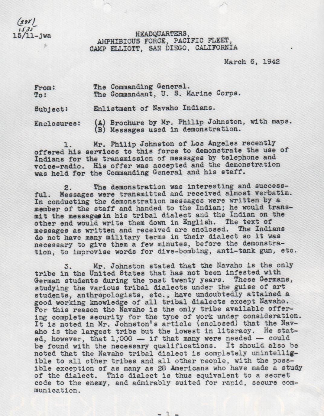Page One Of Navajo Recommendation Letter