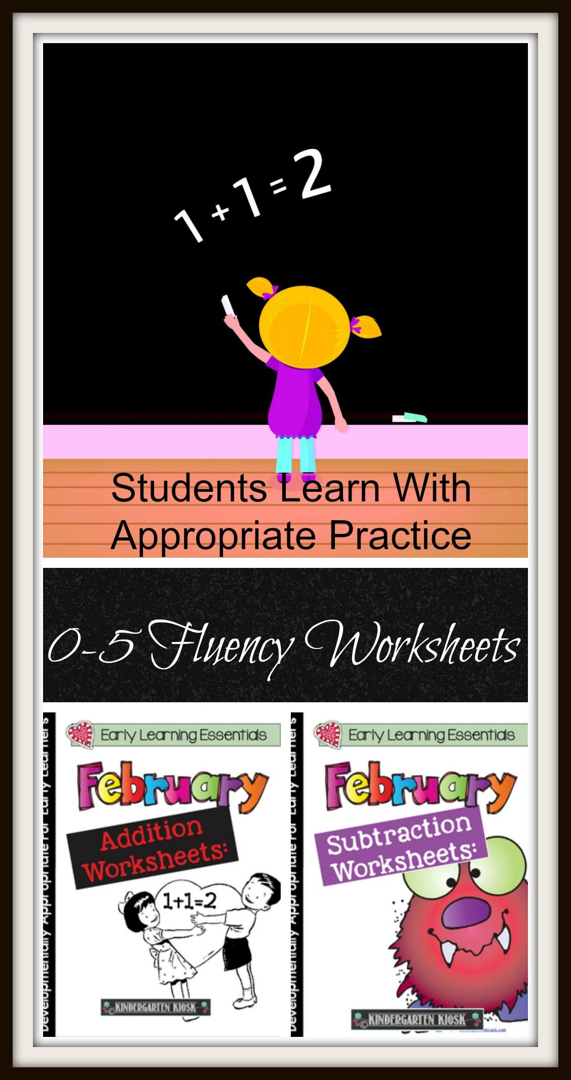 Fluency Worksheets For 0 5 That Are Appropriate Practice