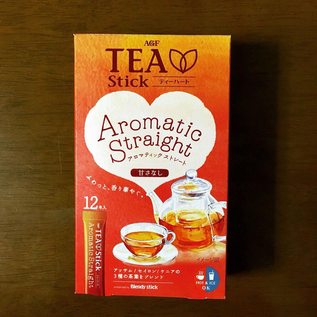 ティーハート アロマスティックストレート。甘さはなく美味しいですね。