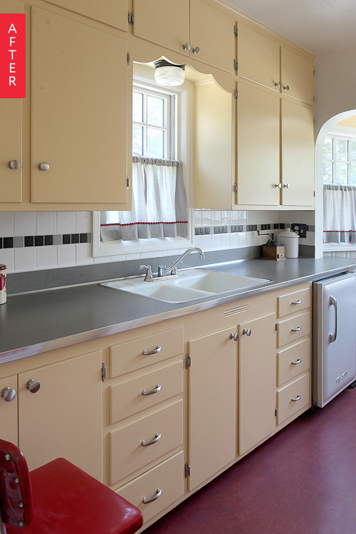 Before & After: A Kitchen Returns To Its Retro Roots