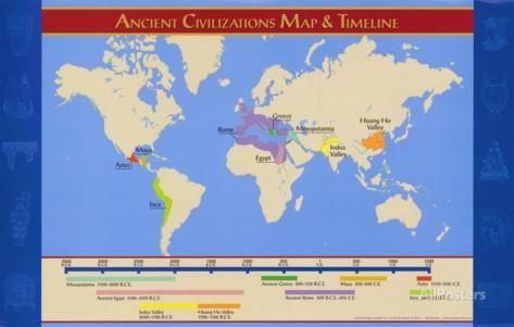 Civilizaciones Antiguas Mapa Y Cronologia Lamina Mapas