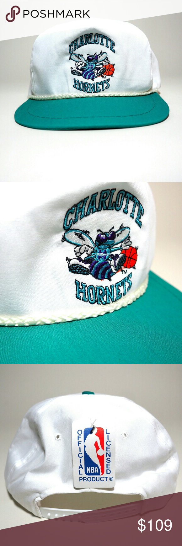 3f11cce97da Rare Vintage U.I.I. Charlotte Hornets Snapback This hat is New With Tags It  is U.I.I. Brand from the 80s   90s Official NBA Merchandise in Great  Condition ...