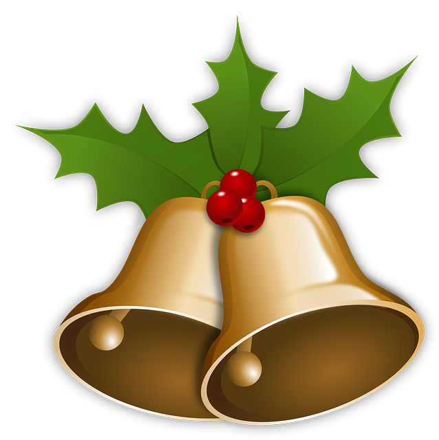 free image on pixabay bells christmas xmas holly xmas rh pinterest co uk christmas bells clipart Christmas Backgrounds