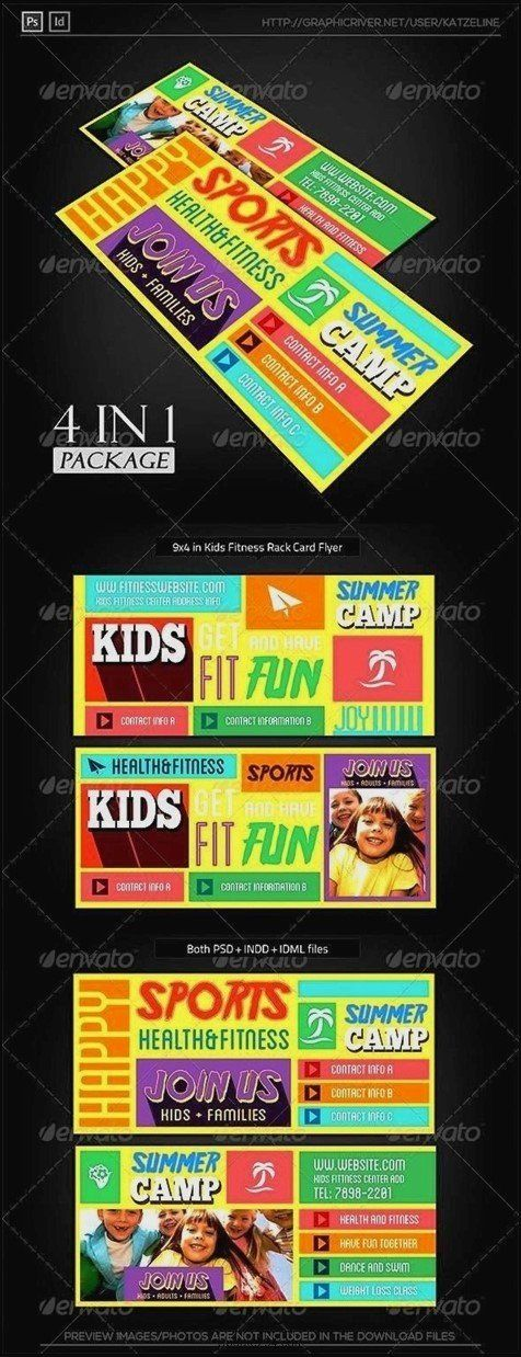 Rack Card Template Indesign Best Of Rack Card Template Indesign Template Update234 Rack Card Rack Card Templates Exercise For Kids