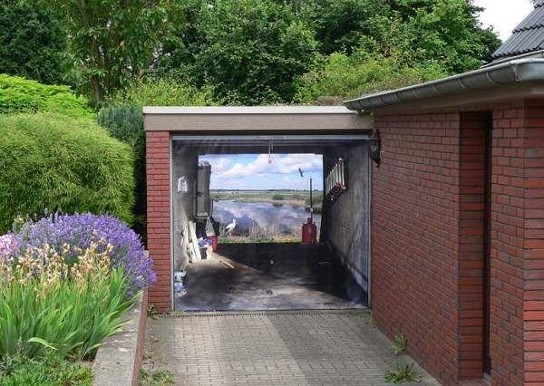 Garage Door Stickers garage, 3d stickers design wall decal for garage doors with brick