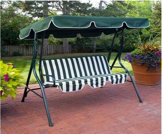 Green Swing Canopy Replacement Porch Top Cover Park Seat Furniture Patio