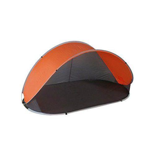 Strandmuschel Pop Up Strandzelt Grau + Orange Polyester