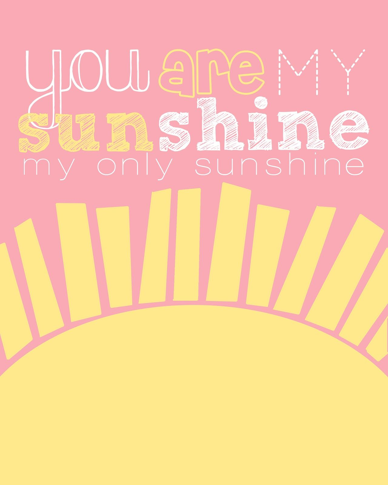 picture about You Are My Sunshine Printable named totally free printable- red and yellow \