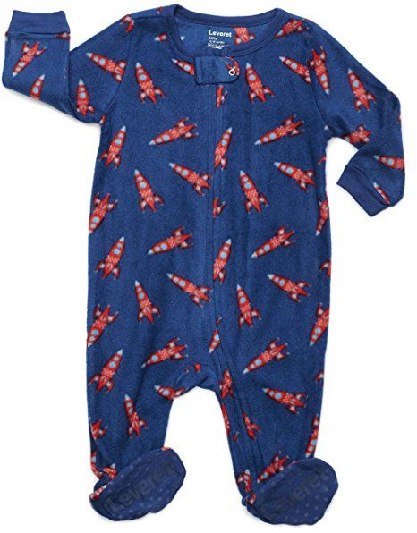 3500fb9e31 Leveret Boys Footed Fleece Sleeper Pajama (Size 6M-5 Years ...