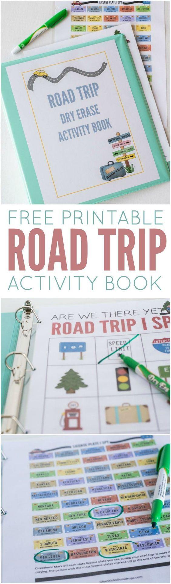 Free Printable Road Trip Games Travel bingo, Road trip