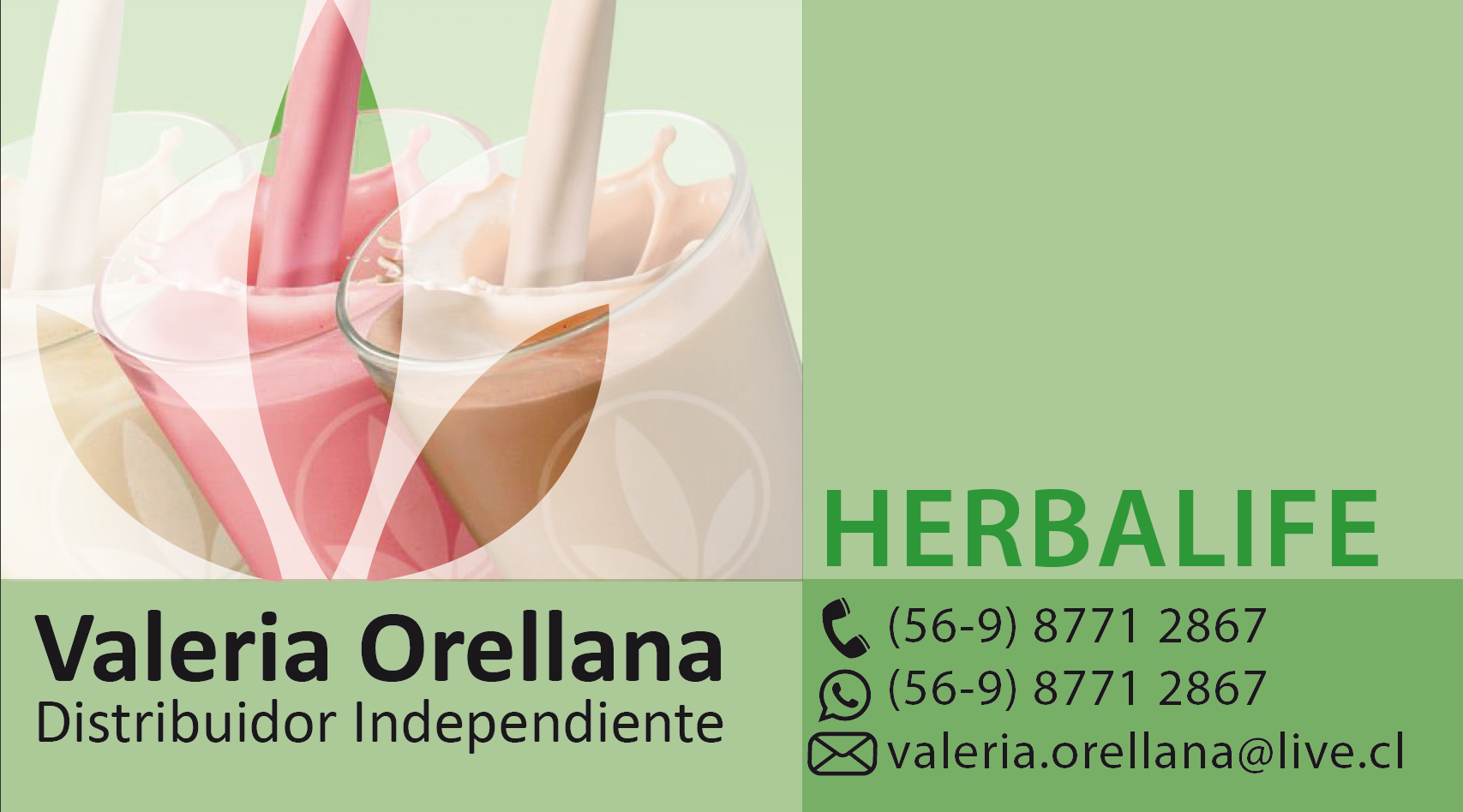 Tarjeta Para Distribuidora De Herbalife Distribuidor De