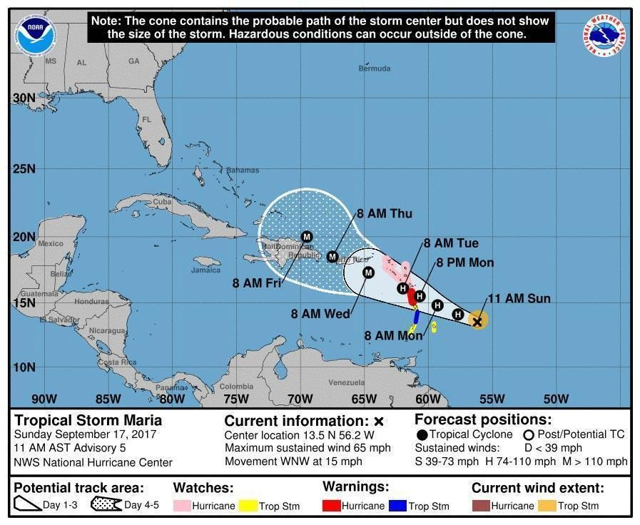 New Hurricane Maria Growing Threat To Irma Slammed Caribbean The Boston Globe Hurricane Storm Caribbean Islands
