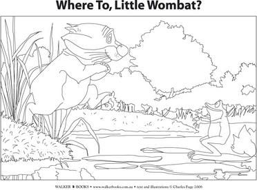 watch out little wombat coloring page