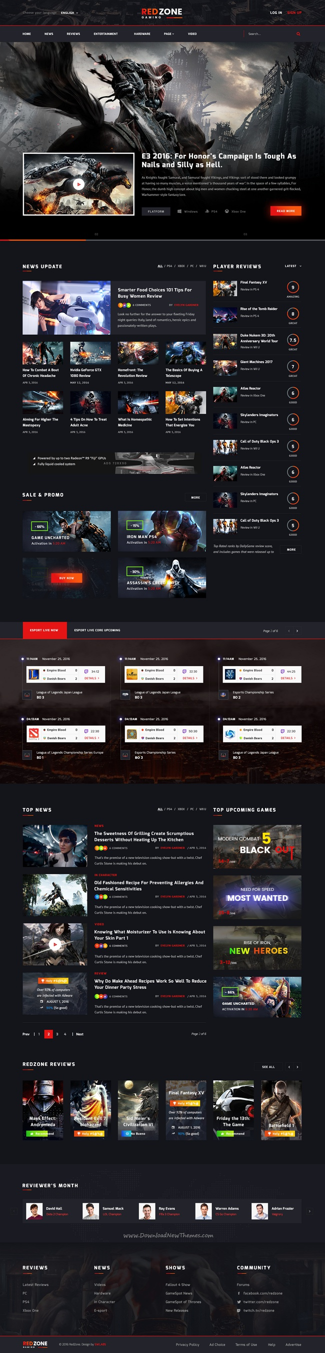 Pin By Chirag On Diseno Web Psd Templates Red Zone Templates
