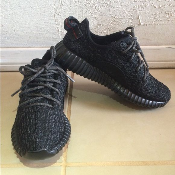 631d5952328 ... reduced yeezy boost 350 pirate black last one last one new adidas low  top yeezy boost