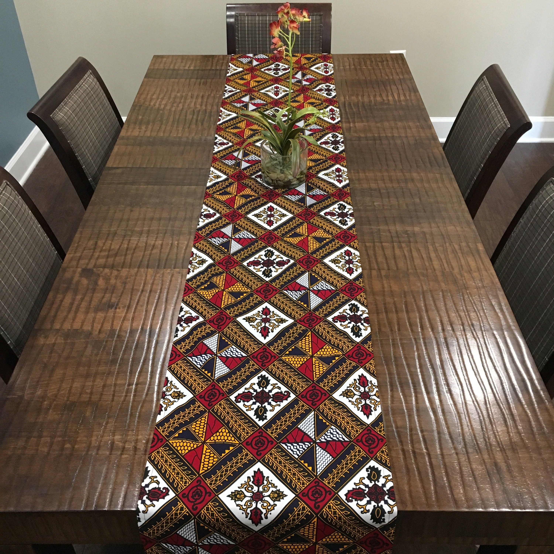 African Print Table Runner Ankara Table Runner Housewarming Gift