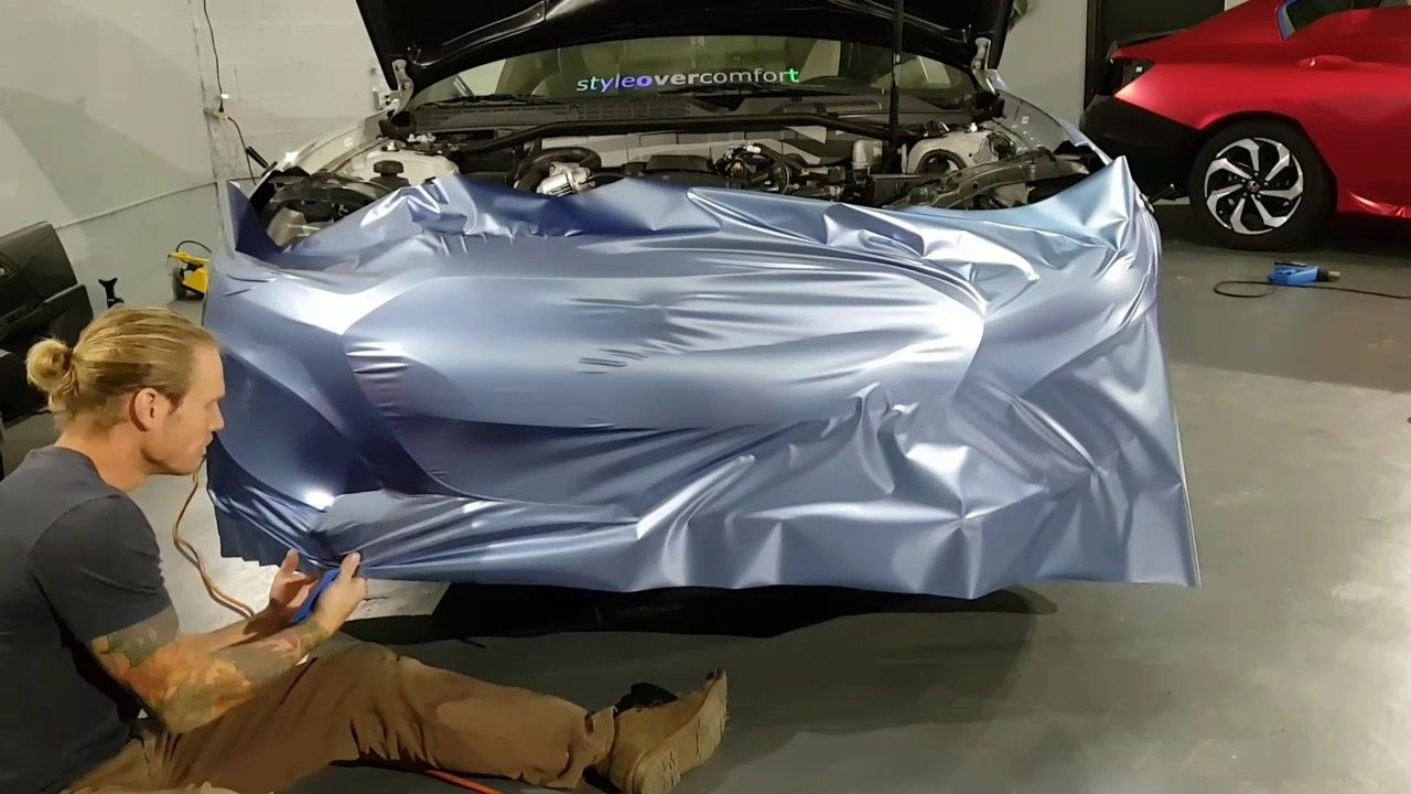 cool How to vinyl wrap a bumper. How to wrap a car. By