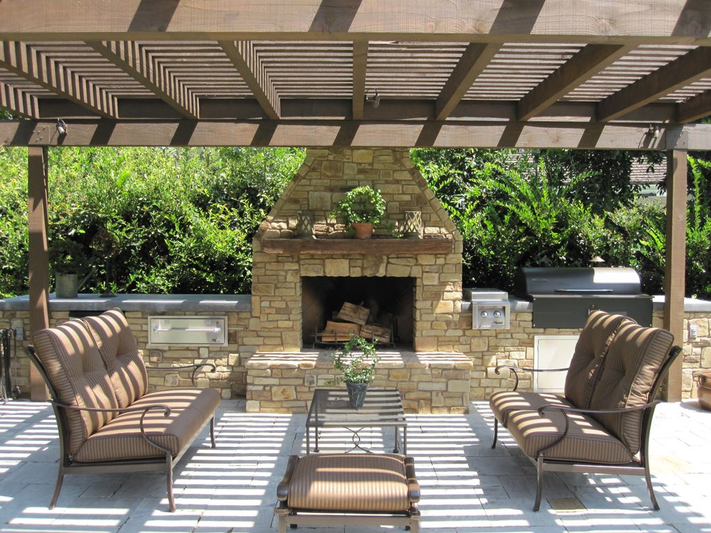 Exterior Fireplace Hardscape Design Portfolio Ckl Design