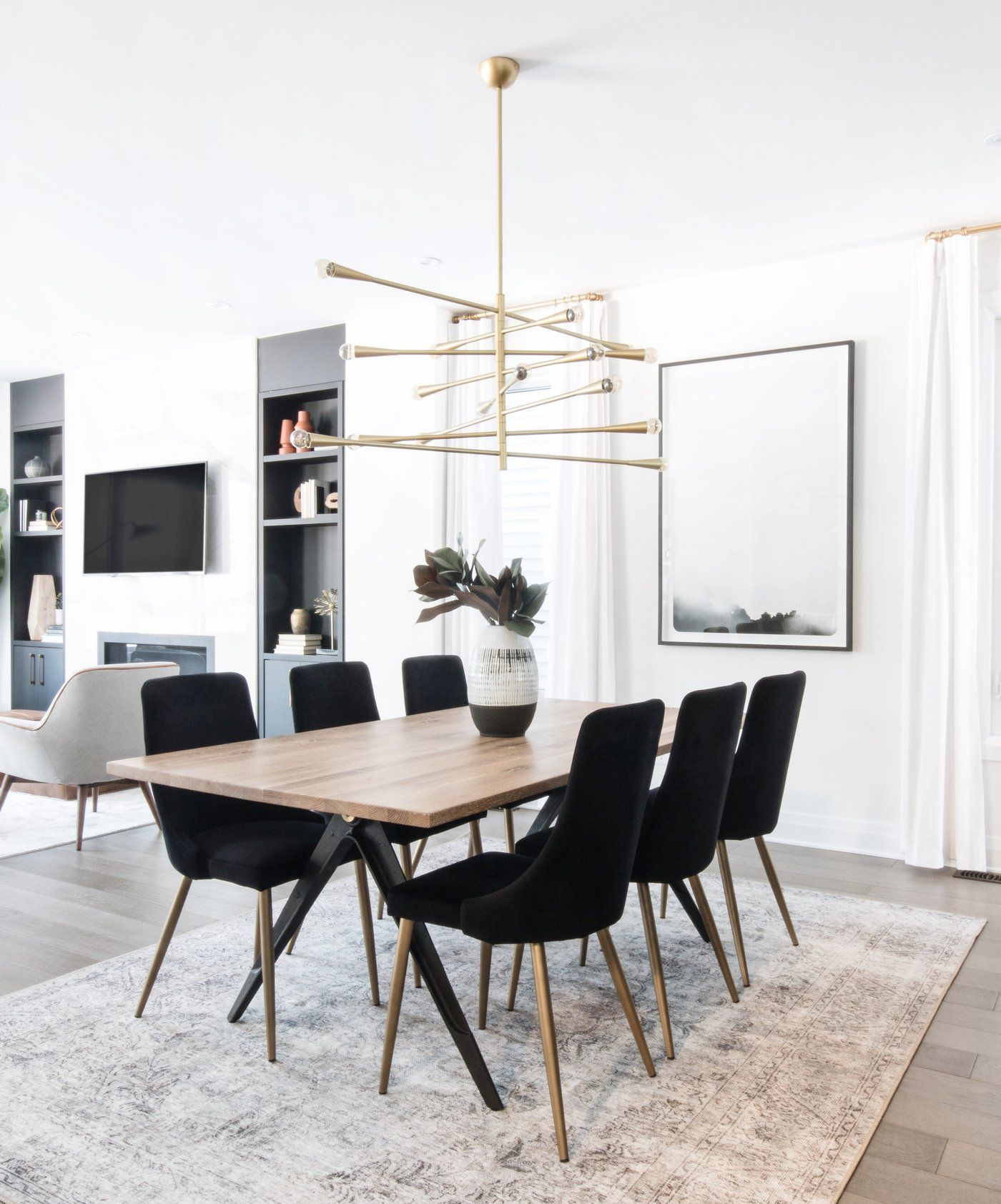 Whether Your Intentions Are To Place It In A Guest Room For A Pop Of Colour And A Comfortable Respite Fo Dining Room Small Black Dining Room Modern Dining Room