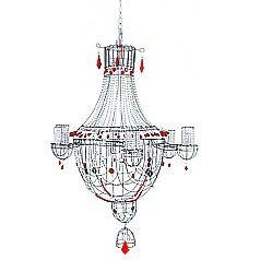 lustre rouge marie christophe lampe pinterest fil de fer fils et lustres. Black Bedroom Furniture Sets. Home Design Ideas