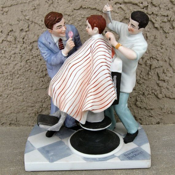 First Haircut By Norman Rockwell Figurine I Have This Piece
