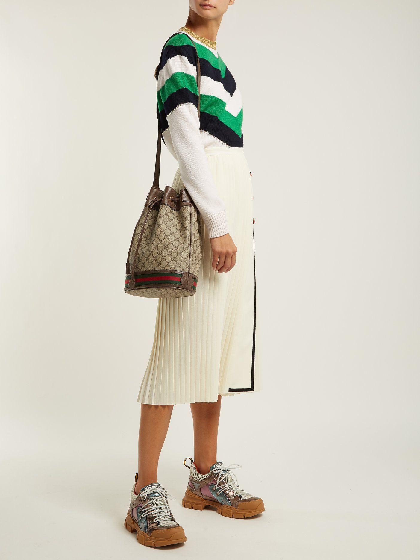 756119edbc8f75 Ophidia GG Supreme leather bucket bag | Gucci | MATCHESFASHION.COM ...