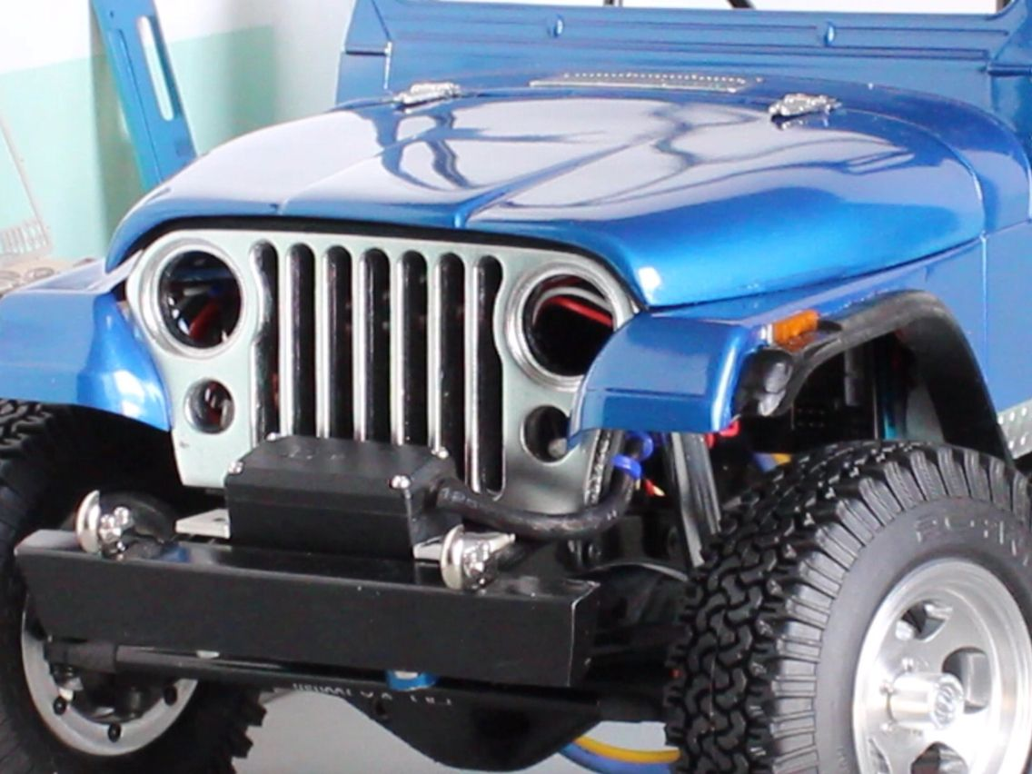 small resolution of 1 10 scale cj 7 crawler project paint chrome and fender flares