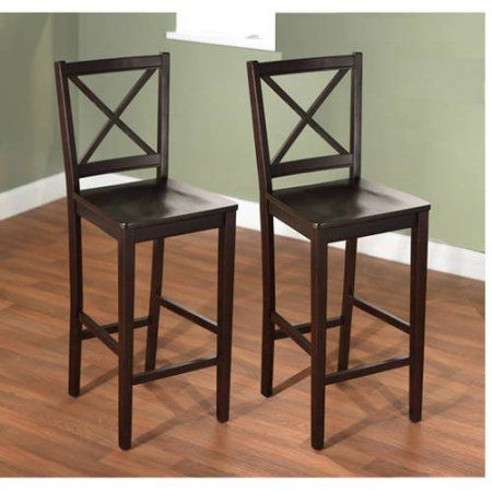 Virginia Cross Back 30 Inch Bar Stool Set Of 2 Multiple Colors