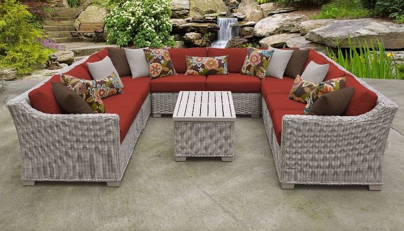 Coast 11 Piece Outdoor Wicker Patio Furniture Set 11a In