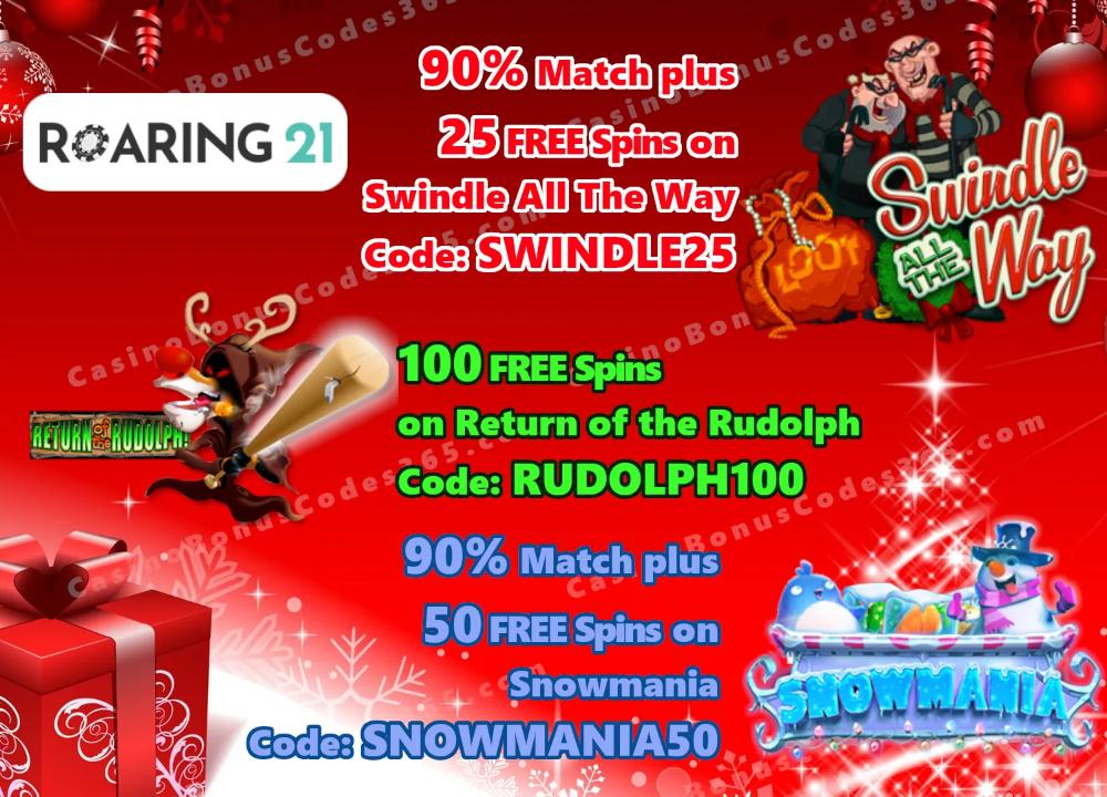 Roaring 21 Xmas Special Offer | Casino Bonus Codes 365