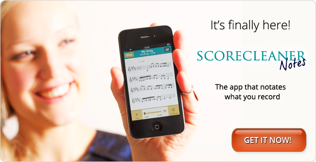 Create your own musical score by recording yourself. This