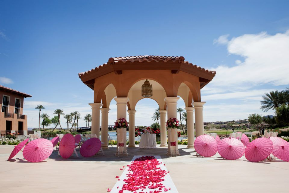 All pink out in our andalusian garden lake las vegas