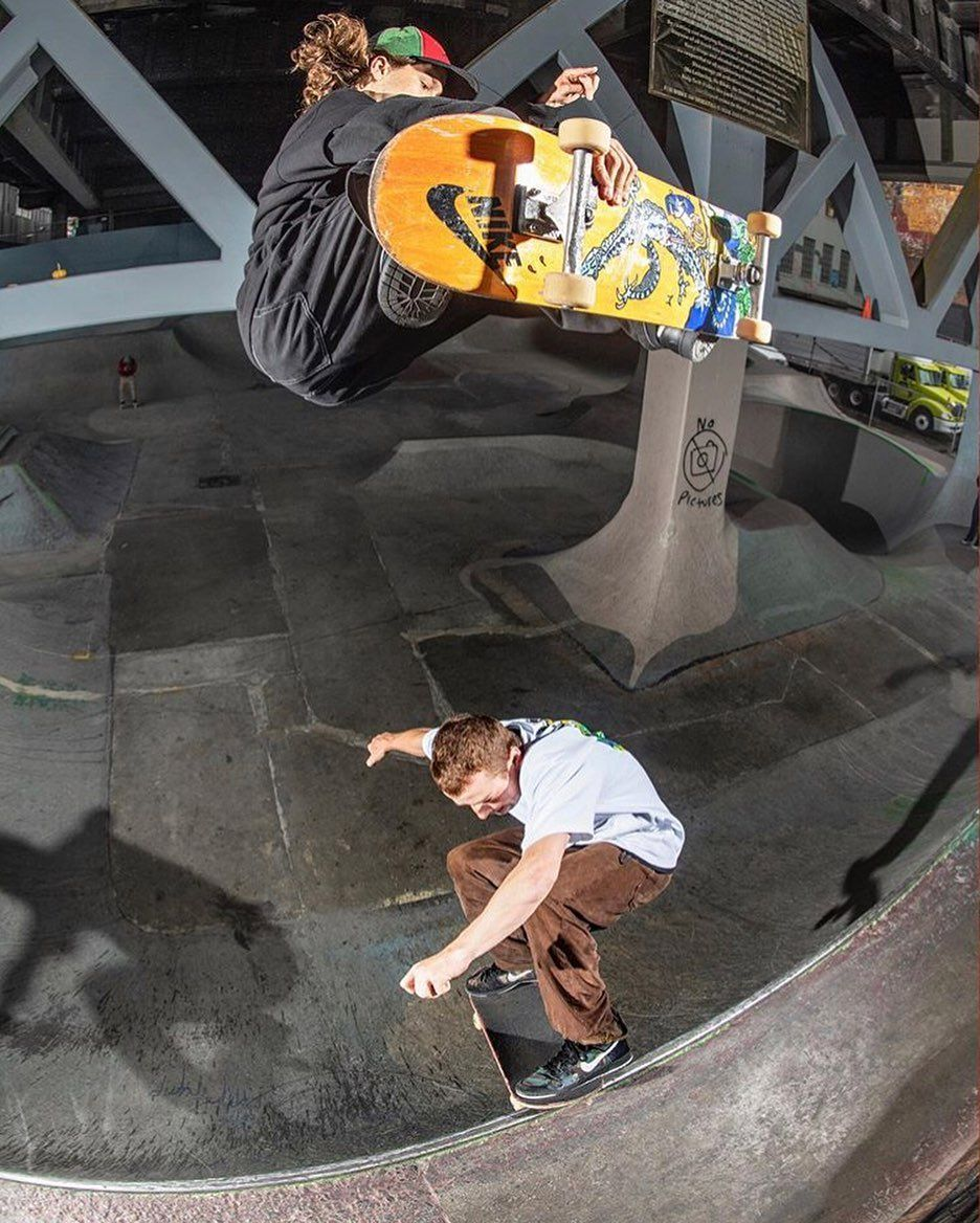 Ouble Trouble With Oskarrozenberg And Emileabroad Burnsideskatepark Skateboard Photos Skate Park Burnside Skatepark