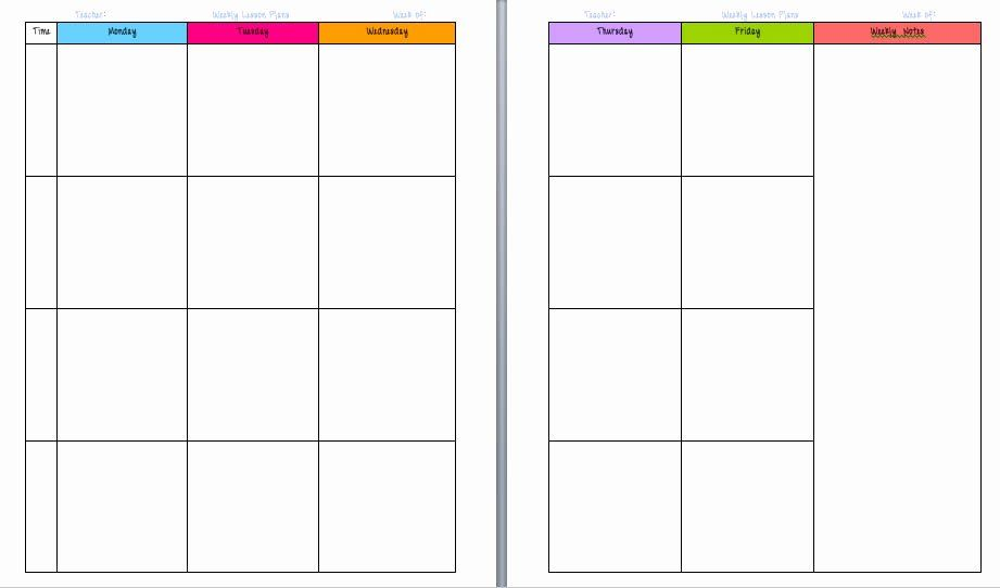 Lesson Planning Book Template Lesson Plan Book Templates Franklin In 2020 Lesson Plan Templates Teacher Planner Templates Weekly Lesson Plan Template