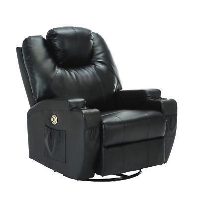 Body Electric Massage Chair Recliner Sofa Ergonomic Lounge Swivel Heated  Brown