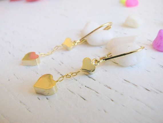 Hey, I found this really awesome Etsy listing at https://www.etsy.com/listing/151591207/gold-heart-earrings-dangle-earrings