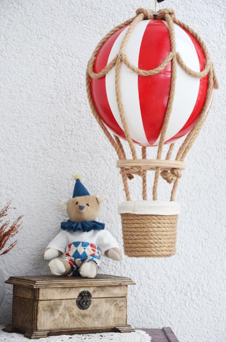 Travel Nursery Decor Circus Hot Air Balloon Nursery Decor