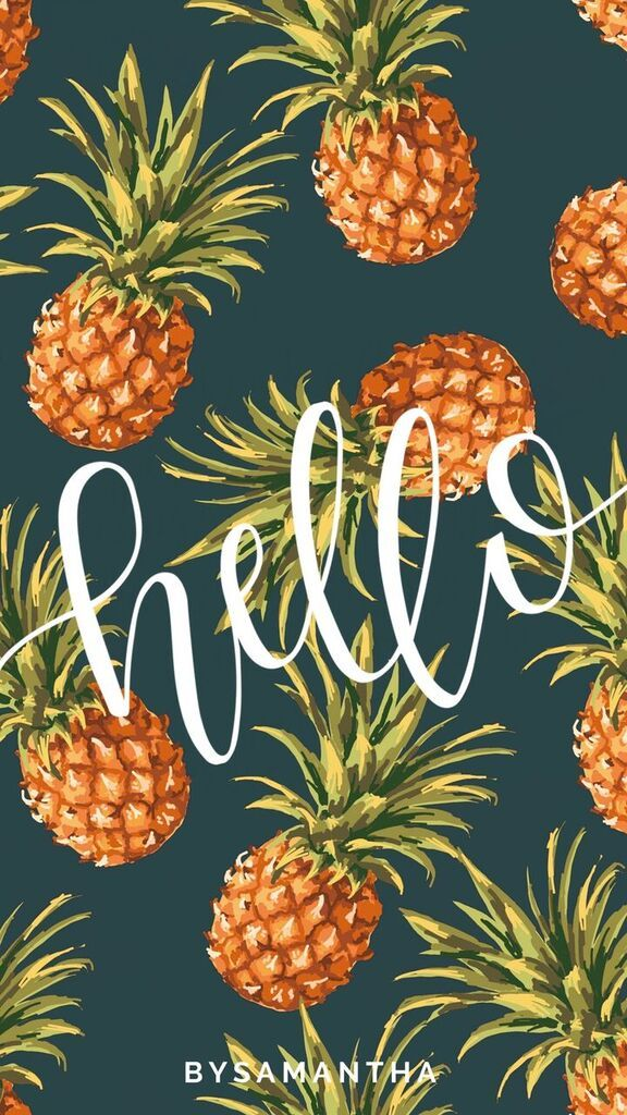 Dropbox iPhone Wallpaper Hello Pineapples.jpg Craft