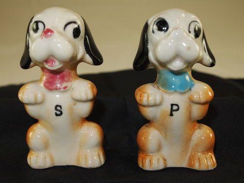 Vintage 1940's Begging Puppies Salt Pepper Shaker | eBay