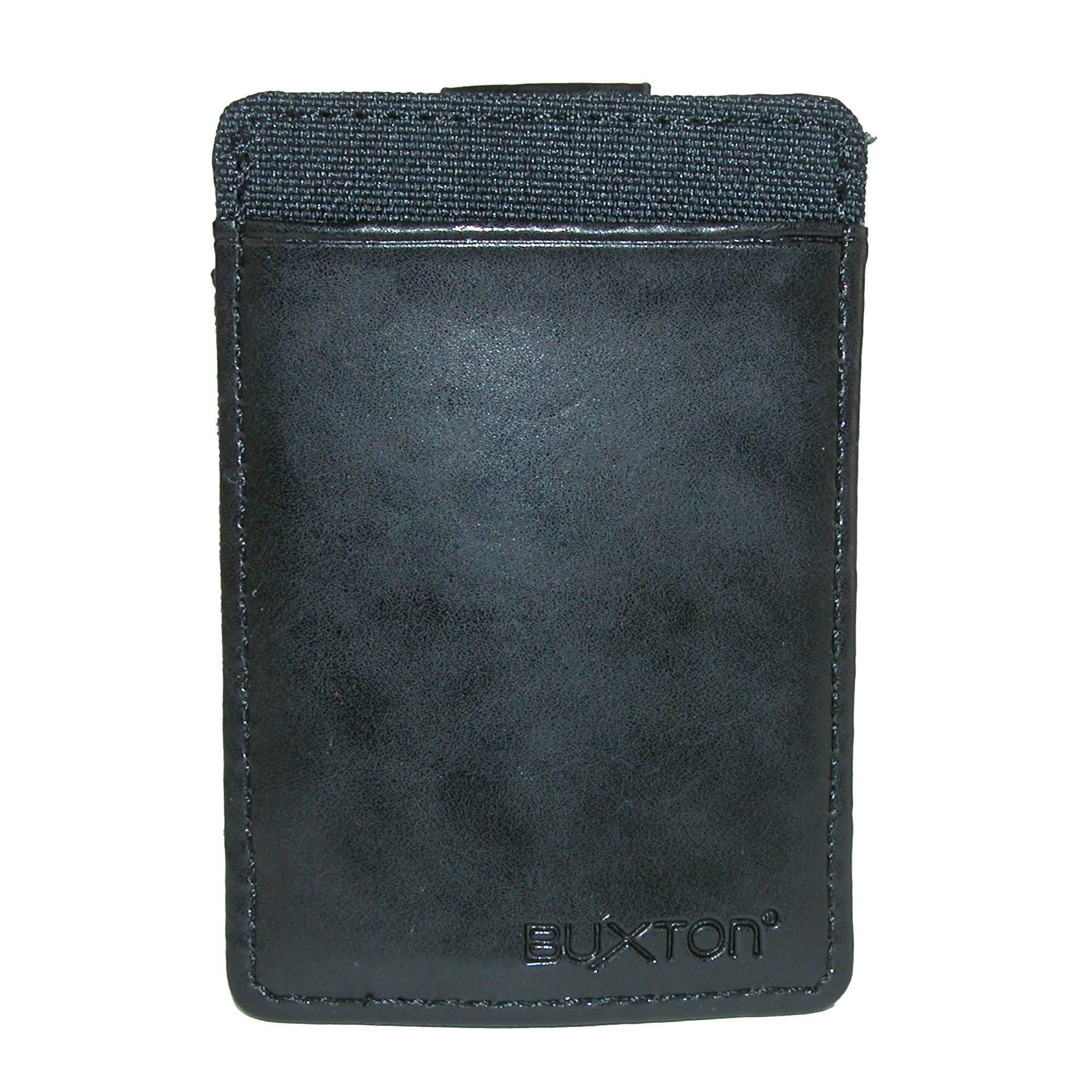 Buxton Men's RFID Protected Flex Pull Tab Stretch Wallet