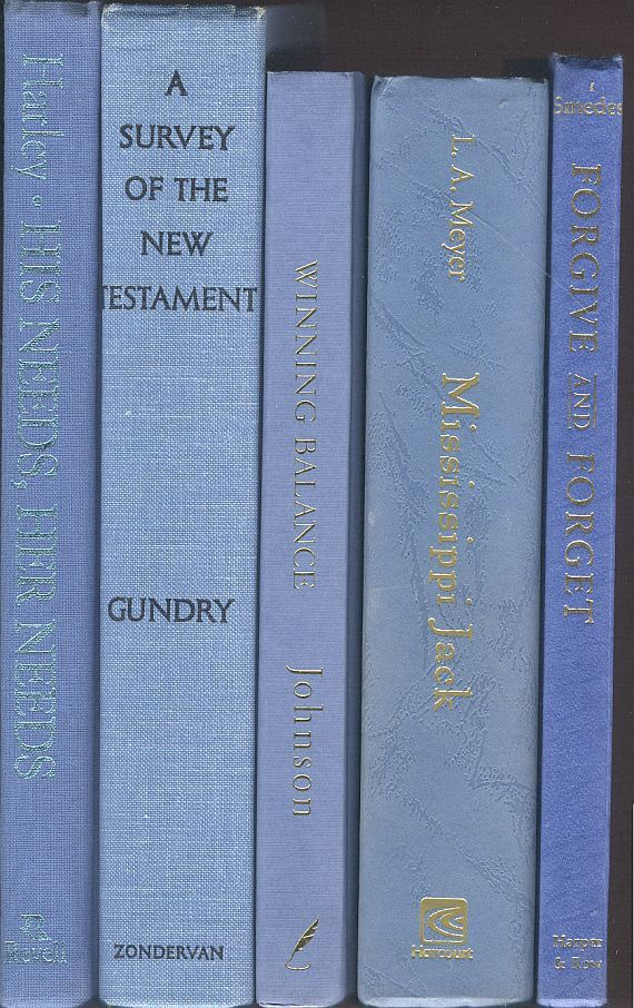 Shades of Blue Books, Blue-Gray, Light Denim, Medium Blue Book Collection, set of 5, Decor for library, wedding, office, photo prop staging by CalhounBookStore on Etsy