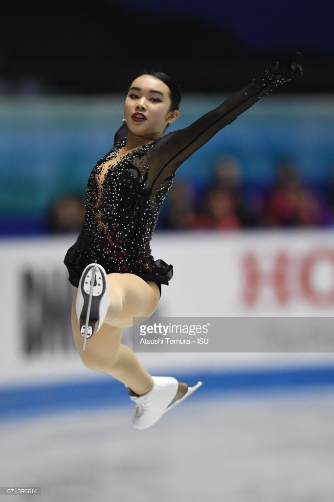 News Photo : Karen Chen of the USA competes in the Ladies free...